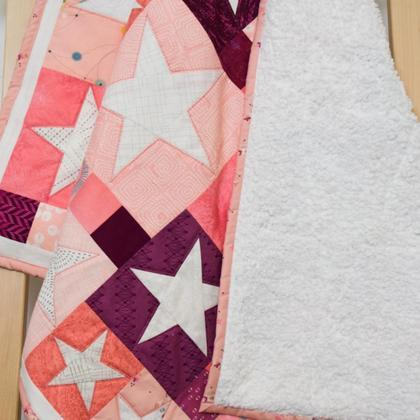 Babyquilt rosa Sterne