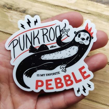 Sticker Otter Punk 1 Stk.