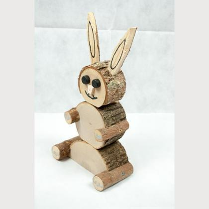 Holztier HASE groß