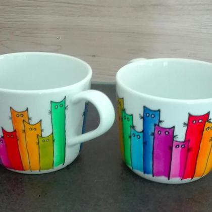 "Kaffeebecher ""Rainbow Cats"""